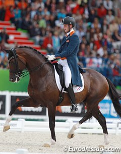 Another top talent for the future: Diederik van Silfhout and Arlando. Van Silfhout presented this horse beautiful but the green GP horse lacked ground cover in walk and canter, but he's very lightfooted in piaffe and passage