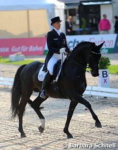 Anabel Balkenhol and Heuberger were the runners-up in the developing PSG horse class