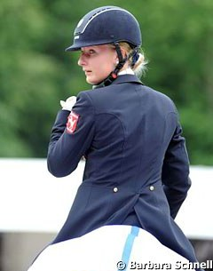 German young rider team member Bianca Nowag