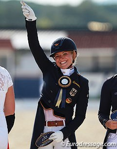 2014 European Junior Riders Champion Anna Christina Abbelen finished sixth in the individual test on Furst on Tour
