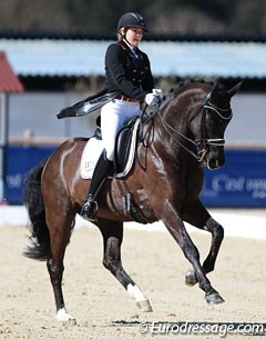 Anna Christina Abbelen and her 2014 European Junior Riders Champion mount Furst on Tour