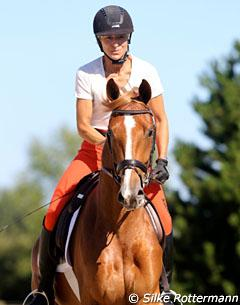 Ingrid on the 3-year old Firlefranz (by Franziskus x Rapallo)