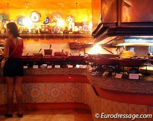 Buffet at the Arabic restaurant