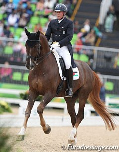 German born Christian Zimmermann riding for Palestine on Aramis (by Scandic)