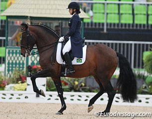 The youngest competitors in the dressage Olympics: 18-year old Brazilian Giovana Prado Pass on Zingaro de Lyw