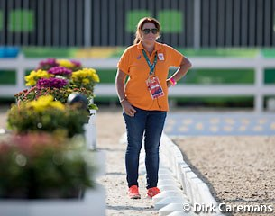 Trainer Nicole Werner is the eyes on the ground for Edward Gal and Hans Peter Minderhoud, but also coaches Dutch eventer Tim Lips