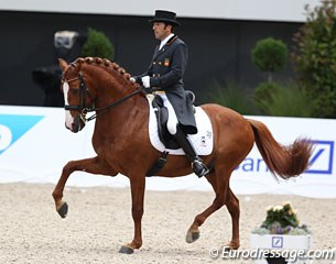 Spanish Claudio Castilla Ruiz on the Lusitano Alcaide