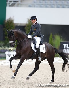Jordi Domingo Coll took Statesman from young horse level all the way up to Grand Prix himself