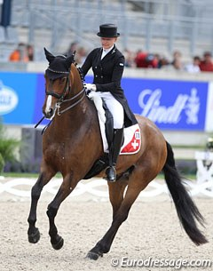 Swiss Marcela Krinke-Susmelj and Atterupgaards Molberg (by Michellino) have been coming to Aachen every year since 2011. This is their seventh, consecutive time competing in Aachen!
