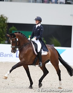 Belgian Olympian Jorinde Verwimp and her 17-year old Tiamo make the Aachen top 10