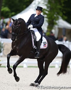 Team U.S. only had three riders in Compiegne with a last minute withdrawal of Jennifer Hoffmann's Rubinio. Shelly Francis has made Danilo her first choice in Grand Prix horse and ridden him in the 5* competition