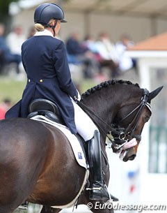 Australian individual Mary Hanna withdrew from the Grand Prix as Boogie Woogie got the tongue stuck over the bit