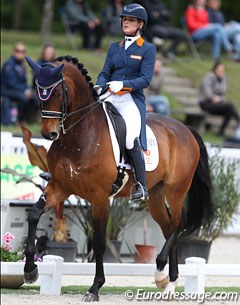 Danielle Heijkoop on her young Grand Prix horse Badari