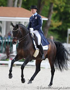 Swedish Mads Hendeliowitz was the Olympic team alternate but got to ride in his first Games when Therese Nilshagen and Dante Weltino dropped out due to injury. They were 23rd in the Grand Prix and 9th in the Special