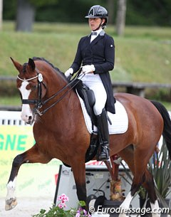 Maeva Hoang on her second small tour ride, Nicolas Verstraeten's Diolita DN, a 9-year old Dutch mare by Tango x Glendale