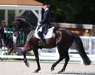 German Helen Langehanenberg competed in the 5* as an individual aboard the American owned Hanoverian stallion Damsey