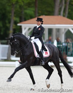Danish Rikke Svane and her Trakehner stallion Finckenstein were fourth in the Grand Prix with a top score of 73.160% and seventh in the freestyle (73.775%)