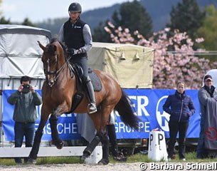 Patrik Kittel on Well Done de la Roche CMF getting coached by Isabell Werth