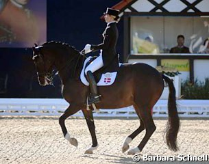 Danish Agnete Kirk Thinggaard makes her CDI debut on Atterupgaards Orthilia, which was Fiona Bigwood's 2016 Olympic team silver medal winning ride