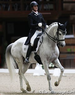 Luxembourg's Gaston Chelius is back at Grand Prix with the young, 9-year old Belgian warmblood Quicksilver (by Quaterback x Ramiro's Bube), which he also competed at the 2014 World Young Horse Championships in Verden