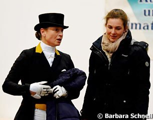 Isabell Werth with U25 Grand Prix rider Lisa Müller