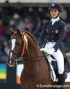 Alexandra Andresen and Belamour at the 2017 CDI Ermelo :: Photo © Astrid Appels