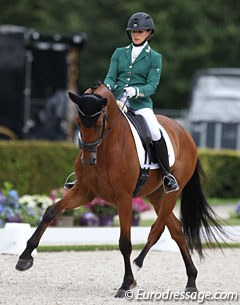 Abigail Hutton's Giraldo (by Rousseau) was also eliminated as the horse was not 100% fit in the arena