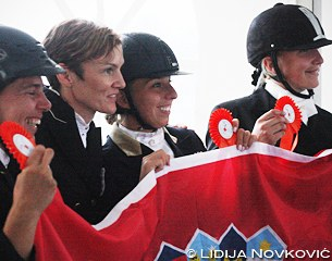 The Croation senior team: Gordna Pavić, Iva Jurak Lukičić, Mia Brnić and Barbara Ožeg Prah