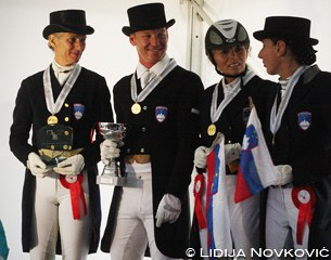 The Slovenian senior team: Birigt Fabris Sauer, Vital Trdan, Neza Sarc and Barbara Begojev