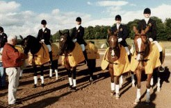 The Belgian Pony Team at the 1997 European Pony Championships in Hartpury :: Photo © Sandra Nieuwendijk