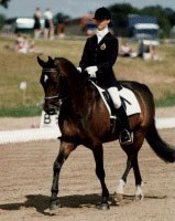 Delphine Meiresonne and Noble Casper at the 1997 European Pony Championships in Hartpury :: Photo © Sandra Nieuwendijk