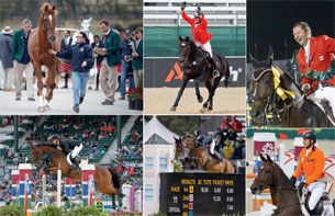 A preview of the book: a show jumping photo page