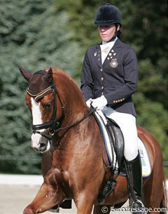 Elin Aspnas and Tim at the 2008 European Pony Championships in Switzerland :: Photo © Astrid Appels