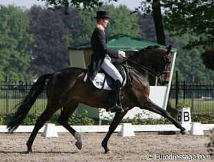 Diederik van Silfhout and Ruby at the 2009 CDI-YR Weert :: Photo © Astrid Appels