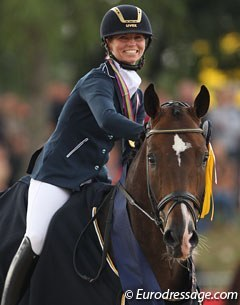 Eva Möller on 2013 World young horse champion Sa Coeur :: Photo © Astrid Appels