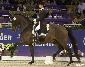 Wientzek-Plage and Robinvale at the 2017 CDI Frankfurt in December :: Photo © LL-foto