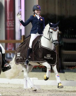 Micky Schelstraete and Elin's Noncisdador at the 2018 CDI Lier :: Photo © Astrid Appels