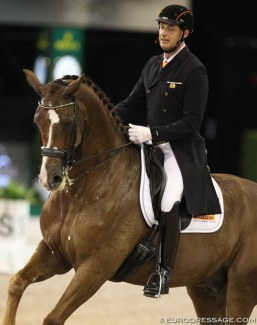 Patrick van der Meer and Zippo at the 2018 CDI-W 's Hertogenbosch :: Photo © Astrid Appels