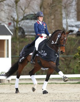 Charlotte Dujardin and Mount St. John Freestyle at the 2018 CDI Nieuw en St. Joosland :: Photo © Astrid Appels
