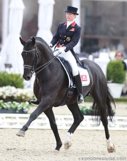 Laura Tomlinson and Capri Sonne JR will make their CDI Grand Prix debut at the 2018 Aachen Dressage Days :: Photo © Astrid Appels
