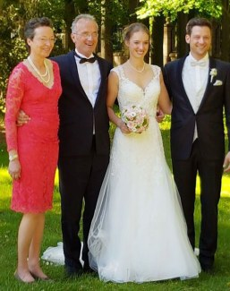 Newly weds Fabienne Lutkemeier and Ingo Müller with Fabienne's parents