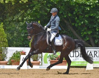 Rudolf Widmann and Der Schufro at the 2018 CDN Babenhausen :: Photo © Rainer Dill