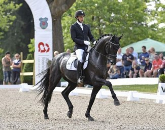 Andreas Helgstrand on the 2017 Danish Young Horse Champion Zhaplin Langholt :: Photo © Ridehesten