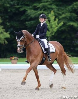 Kenya Schwierking and Dino's Boy at the 2018 CDIO-CHPJYR Hagen :: Photo © LL-foto