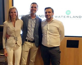 Marianne and Andreas Helgstrand with Kasper Kristiansen of Waterland Private Equity