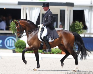 Hartwig Burfeind and Fine Spirit at the 2017 CDIO Rotterdam :: Photo © Astrid Appels