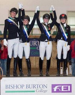 Team Gold for Germany at the 2018 European Pony Championships :: Photo © Bishop Burton Equine