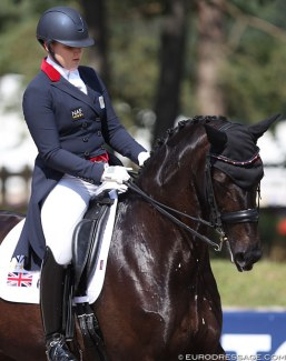 Charlotte Dicker and Sabatini at the 2018 European Young Riders Championships :: Photo © Astrid Appels