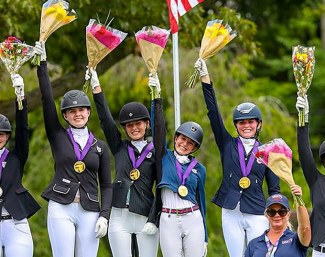 The Region 3 Gold Medal Team  at 2018 North American Junior Riders Championships :: Photo © Sue Stickle