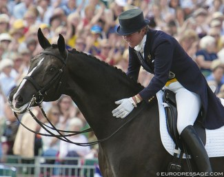 Kyra Kyrklund and Max at the 2009 European Championships in Windsor :: Photo © Astrid Appels